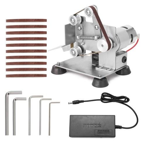 Multifunctional Professional Grinder Mini Portable Electric Belt Sander DIY Polishing Grinding Machine Cutter Edges Sharpener with Foot Pads