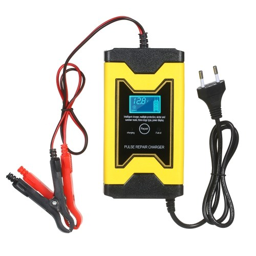 12V 6A Motorcycle Battery Charger Intelligent Pulse Repair Type Quick Car Cell Charger