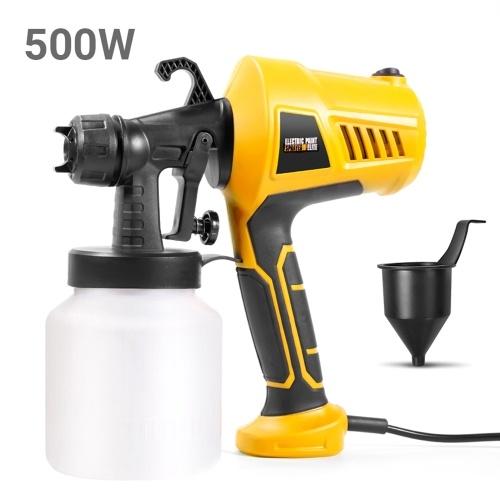 500W Paint Sprayer Portable Electric Sprayer Gun Detachable Airbrush Paint Spraying Tool with 800ml Capacity 110~230V