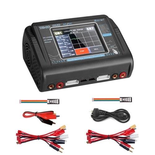 T240充電ツールデュアルチャネルタッチスクリーンバランス放電器RCモデルおもちゃとバッテリー
