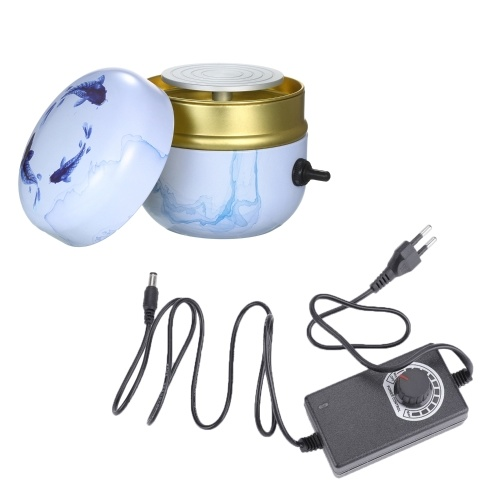 Mini Electric Pottery Wheel Portable Ceramic Machine with 6cm Turntable Clay Sculpting Wheel with Variable Speed and Clockwise/Anticlockwise Rotation for Adults Kids Beginners