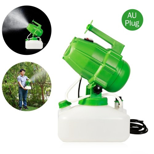 Electric ULV Fogger Portable Ultra-Low Volume Atomizer Fine Mist Blower Humidifier Pesticide Nebulizer 5L