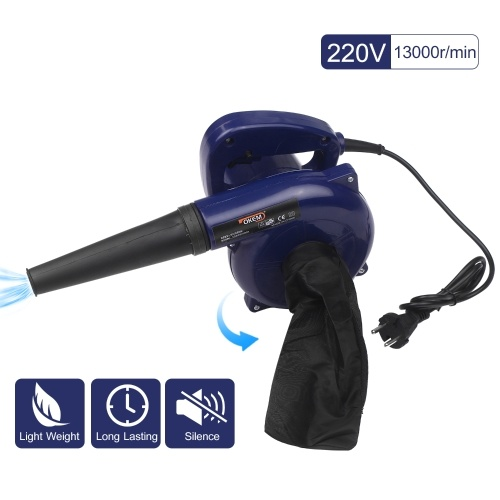 Electric Leaf Blower Corded 3-in-1 Yard Blower Vacuum 600W Powerful Vacuum Cleaner for Car Portable Air Pump for Inflatables with Dust Collector Bag and Taper Nozzle for Clearing Dust Snow Debris