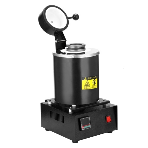 1kg 1400W Portable Graphite Crucible Furnace High Temperature Small Metal Melting Tool