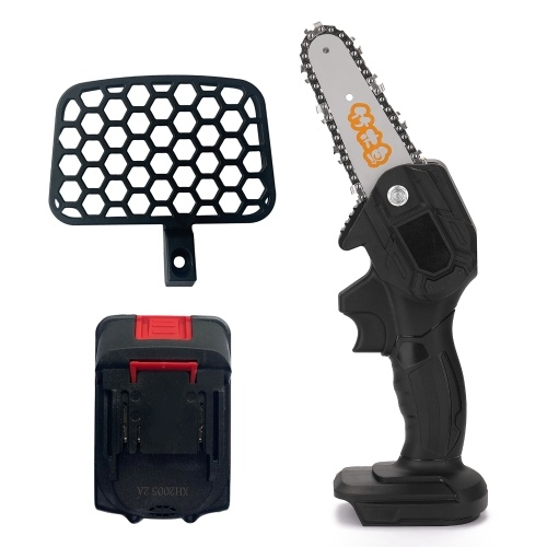 Portable Electric Pruning Saw Rechargeable Small Electric Saws Woodworking One-handed Electric Saw Garden Logging Mini Brushed Electric Chain Saw