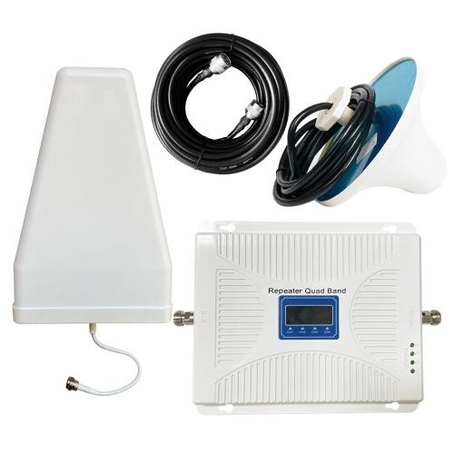 110-240 В 20B-GDWB7 четырехдиапазонный усилитель сигнала 900 1800 2100 2600 GSM DCS 3G усилитель сигнала Интеллектуальный ретрансляторный комплект