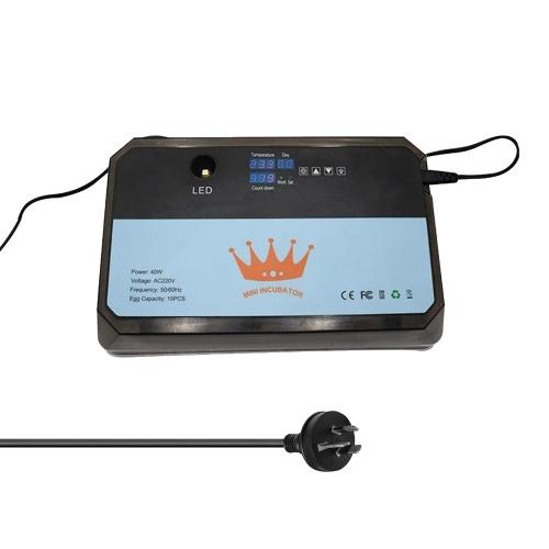 Haushaltsinkubator Vollautomatischer Eier-Turner 15 Eierbrutapparat mit LED-Testfunktion