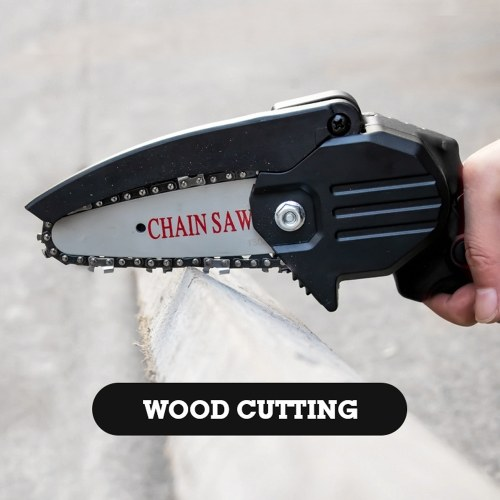 HiLDA Portable Electric Pruning Saw Small Wood Spliting Chainsaw One-handed Woodworking Tool for Garden Orchard