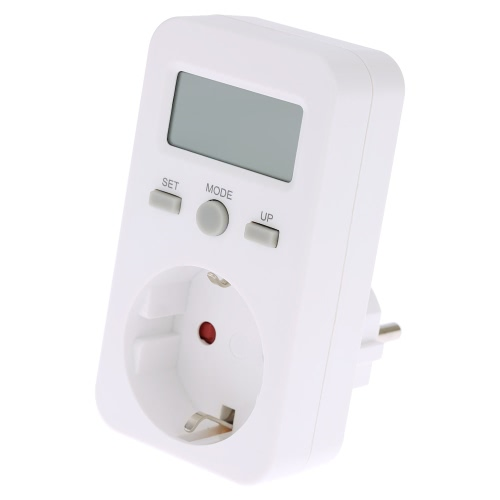 EU Plug Plug-in Digital LCD Energy Monitor Power Meter Electricity Electric Usage Monitoring Socket