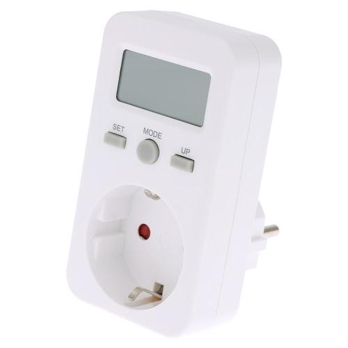 EUプラグインプラグインデジタルLCDエネルギーモニタパワーメータ電気電気使用量モニタリングソケット