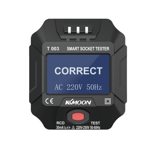 KKmoon 220 ~ 250V EU-Steckdosentester Smart Socket Tester
