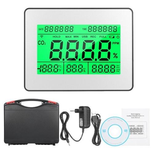 データロギング時計機能付き5.5インチ大型LCDデータロギング二酸化炭素検出器大気質モニターメーター