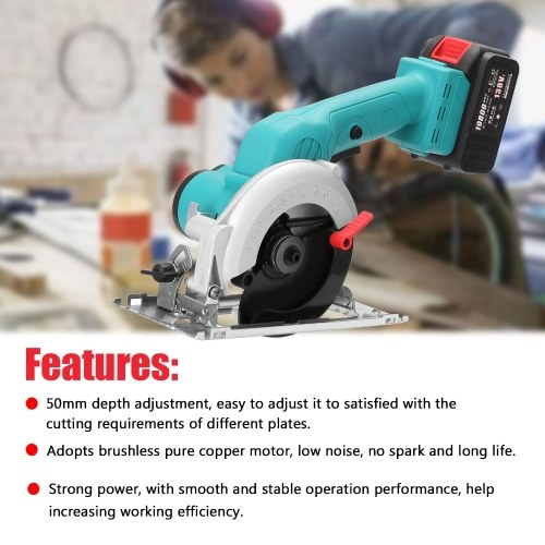 5inch 138VF Electric Circular Saw High Power Lithium Battery Woodworking Tool Wood Board Marble Cutting Machine