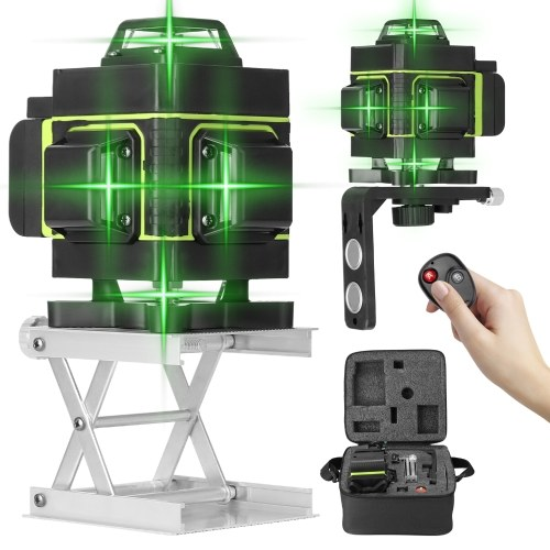 Multifunctional 16 Lines Laser Level 3° Self-leveling Function Leveling Tool Omnidirectional Ground and Wall Sticker with Vertical Horizontal Oblique Line