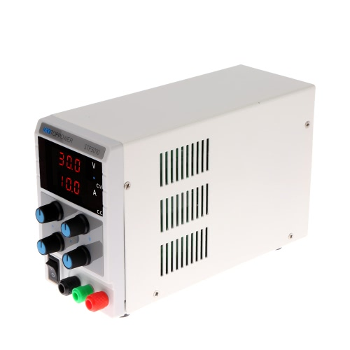 KKmoon 0-30V 0-10A Mini Digital Regulated DC Power Supply Adjustable Output Voltage Current STP3010 EU Plug