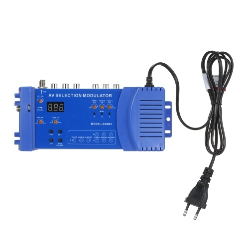 AMS90モジュレーターAVオプションのモジュレーターVHFUHF PAL / NTSC標準RCAコンバーターポータブル100-240V国内モジュレーターRFコンバーターアダプターEUプラグ