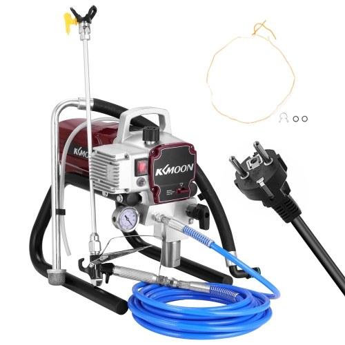 Máquina de pulverización sin aire de alta presión profesional KKmoon pulverizador de pintura eléctrico herramienta de pintura de alimentación interna
