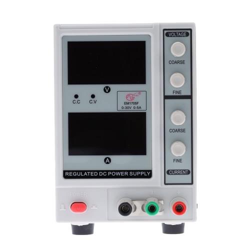 0-30V 0-5A 4 cifre variabile regolabile Digitale DC Power Supply EM1705F US Plug