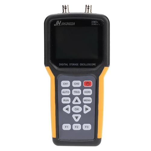 TFT LCD portatile a doppio canale 2 canali Oscilloscopio portatile Scope Meter 20MHz larghezza di banda 200MSa / s Tasso di campionamento