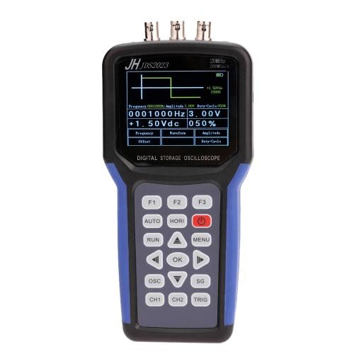 Handheld Oscilloscopio multifunzionale digitale + segnale Generatore di portata portatile 20MHz larghezza di banda 200MSa / s 1CH TFT LCD Display