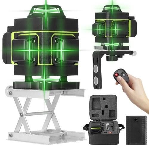 Многофункциональный лазерный уровень на 16 линий 3 ° Функция самовыравнивания Инструмент для выравнивания Всенаправленная наклейка на землю и стену с вертикальной горизонтальной наклонной линией