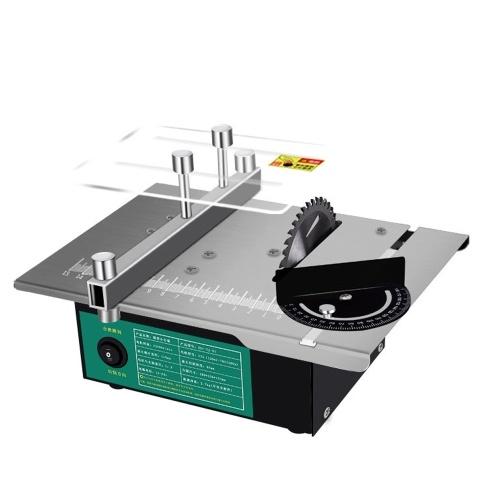 Mini Multifunctional Table Saw Angle Adjustable Electric Desktop Saws Household DIY Cutting Grinding Tool Woodworking Lathe Machine