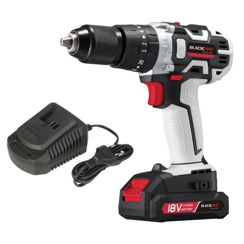 Cordless Drill Driver Handheld Portable 18V Electric Drill Variable Speed Brushless Drill LED Light 21+3 Torque with 2000mAh Lithium-ion Battery