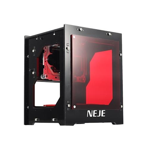NEJE DK-BL 10W 445nm Mini-Smart-Lasergravurmaschine Hochgeschwindigkeits-CNC-Lasergravurdrucker DIY-Druckschnitzmaschine Kompatibel mit verschiedenen OS EU-Steckern