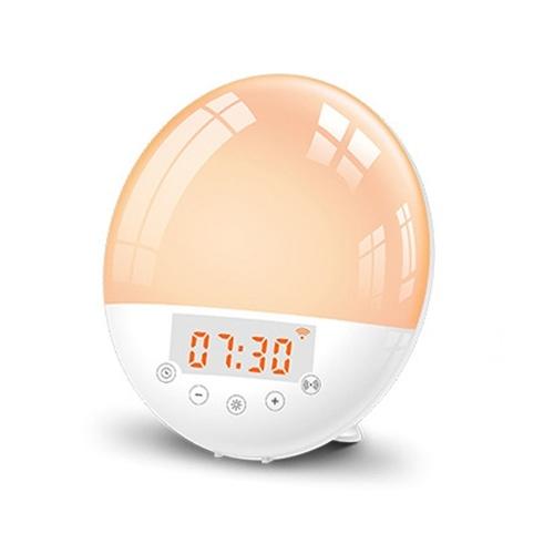 Tuya WiFi Intelligent Wake-up LED Light Intelligent Alarm Clock  7 Colors Adjustable