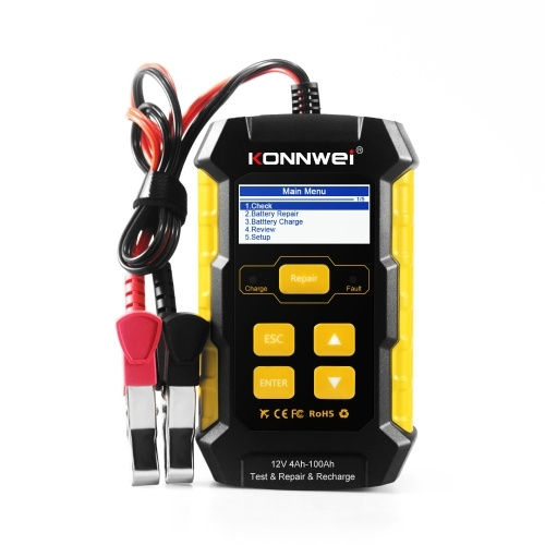 KW510 Car Battery Tester Multifunctional Pulse Repairing Car Battery Chargers Auto Maintenance Tool Automotive Diagnostic Device