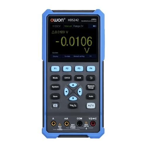 OWONハンドヘルドオシロスコープマルチメータ2CH40MHz帯域幅20000は、自動車メンテナンス用の3.5インチLCDカラースクリーンを備えた2-in-1デジタルスコープメータをカウントします。電力検出EUプラグ