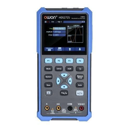 OWON3-in-1ハンドヘルドデジタルオシロスコープマルチメータHDS272S2CH70MHz帯域幅20000カウント