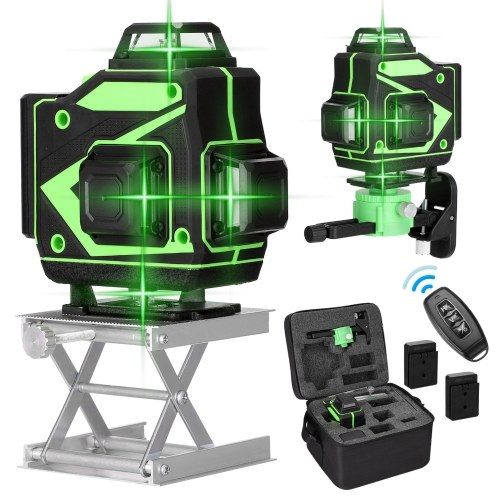 Multifunctional 16 Lines Laser Level Tool Vertical Horizontal Lines with 3° Self-leveling Function