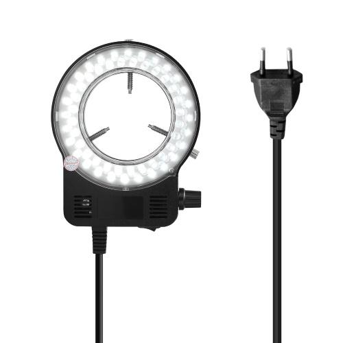 LED-Rundlicht für Mikroskoplampe für Mikroskophelligkeit einstellbares Mikroskoplicht