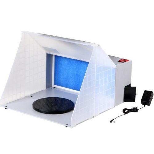 Портативный профессиональный комплект распылительной камеры для аэрографа со светодиодной подсветкой, экстрактор аэрографа, выхлопной фильтр, комплект краски для модельных поделок