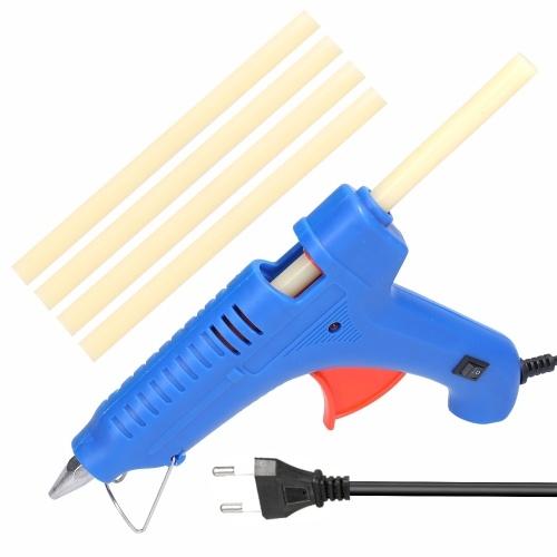 100W Hot Melt Glue Machine Portable Electric Hot Melt Applicator Glue Extrusion Tool with 5pcs Glue Sticks for DIY Art Craft Handmade Home Quick Repairs