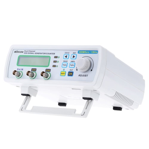 25MHz KKmoon digitale ad elevata precisione DDS doppio canale Signal Generator Fonte d'onda arbitrarie Misuratore di frequenza 200MSa / s