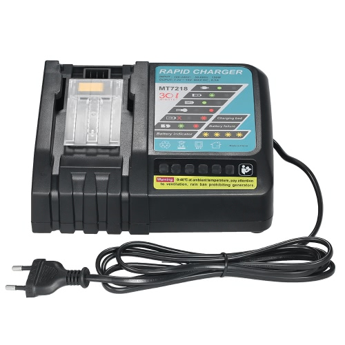 6.5A Rapid Charger Replacement for Makita DC18RC DC18RA BL1830 BL1815 BL1840 BL1850 14.4V-18V Li-ion Battery