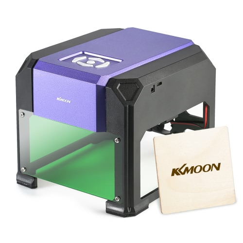 KKmoon AC100-240V 1000mW Высокоскоростная миниатюрная лазерная гравировальная машина DIY Tools с 80 x 80mm Гравировка без ограничений