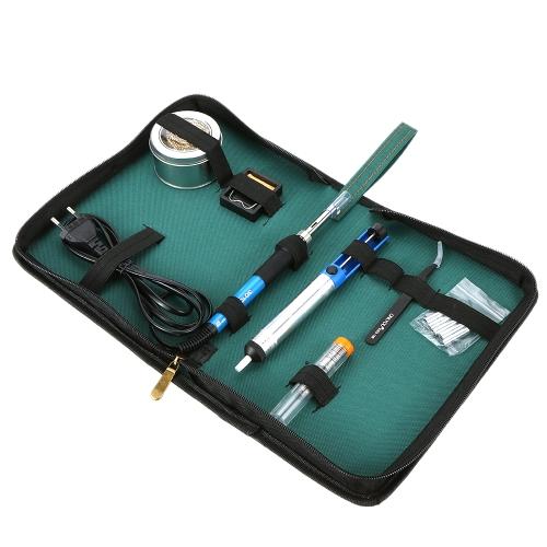 60W Soldering Iron 6-Tip Welding Kit Lead-Free 12 in 1 US Plug