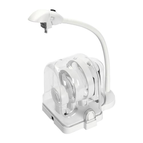 3 Lens Desktop多機能2.5X 5X 16X溶接LEDの拡大鏡テーブルランプルーペはんだ付け修理拡大鏡6 LEDライト
