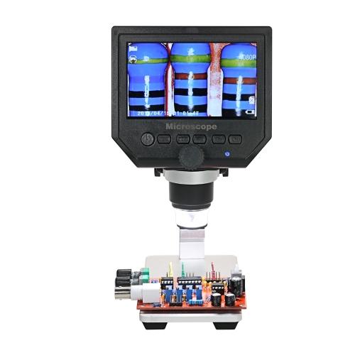 """600X 4,3 """"lcd vidéo électronique de Digital Microscope vidéo numérique de l'affichage à cristaux liquides 3.6MP pour l'entretien de téléphone portable QC / inspection industrielle / de collection avec la batterie au lithium rechargeable intég"""