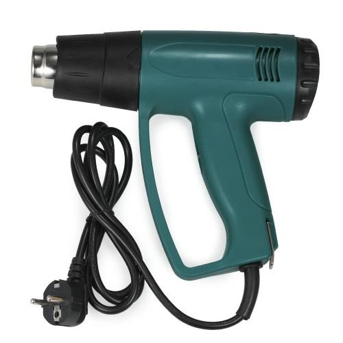 Alta calidad LCD Digital controlado por temperatura eléctrica pistola de aire caliente Pistola de calor conjunto de herramientas con 4pcs boquillas 2000W AC220V