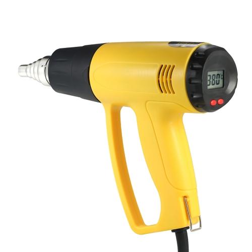 High Quality LCD Digital Temperature-controlled Electric Hot Air Gun Heat Gun Tool Set with 4pcs Nozzles 2000W AC220V