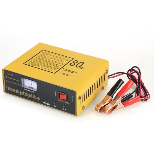 6V / 12V 80AH Интеллектуальное автоматическое светодиодное зарядное устройство Тип ремонта импульсов Материнская плата для свинцово-кислотной батареи и литиевой батареи 120 Вт AC110V-250V фото
