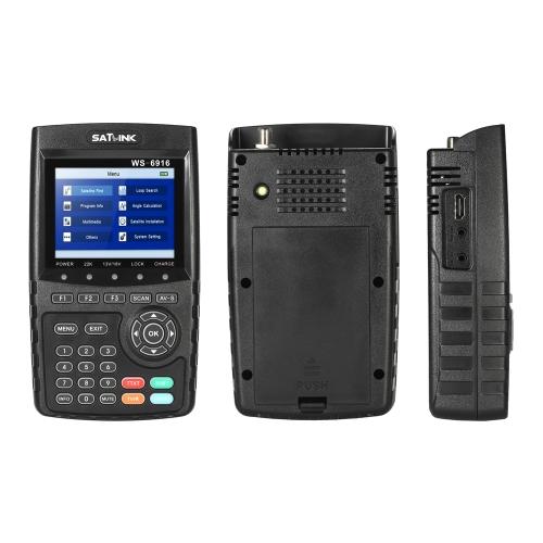 SATLINK WS-6916 Digital Satellite Finder Meter HD Digital Satellite TV Finder Digital Satellite Signal Finder Meter with Carrying