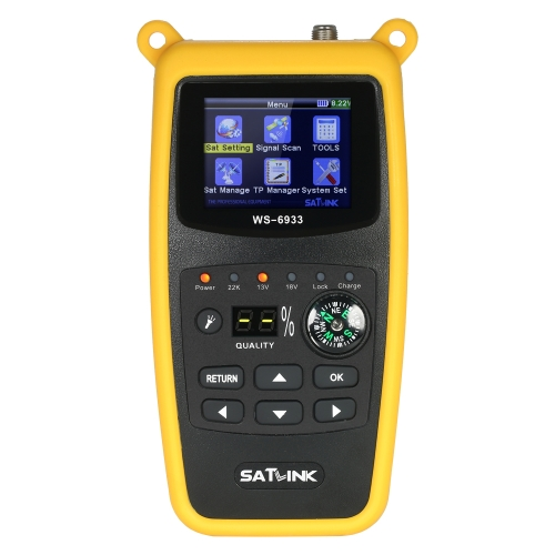 SATLINK WS6933 Digital Finder Meter digitale con bussola Digital Signal Finder Meter con display LCD