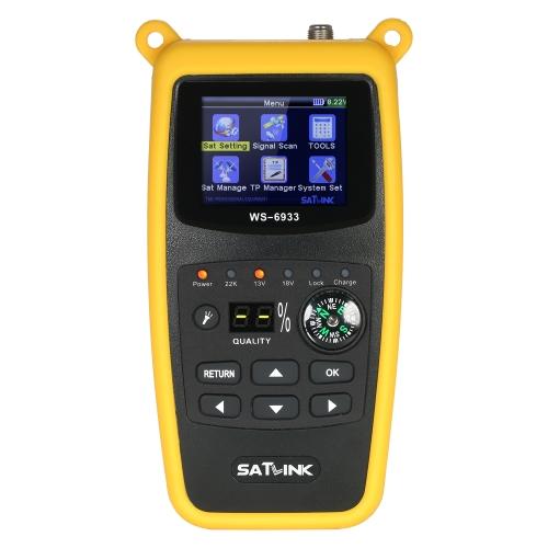 SATLINK WS6933 Medidor de localizador de satélites digital com medidor digital de sinais de satélites da bússola com display LCD