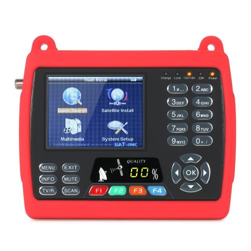SATLINK WS6950 Medidor de satélite digital Detector de TV por satélite digital Medidor de sinal de satélite digital com correia de transporte