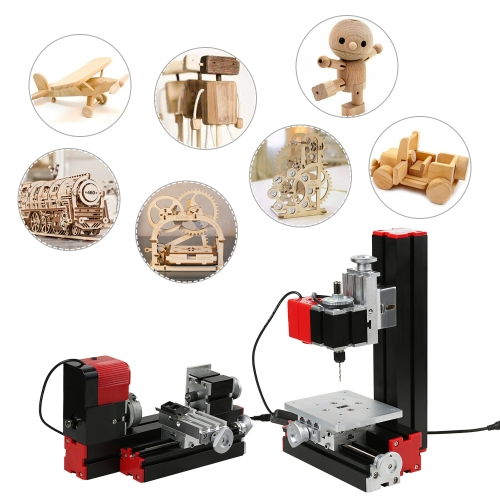 Mini DIY 6 in 1 Multipurpose Machine Multi-functional Motorized Transformer Jigsaw Grinder Driller Plastic Hardware Lathe